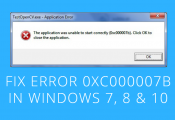 How to Fix (0xc000007b) Error easily for All Works on Windows 7/8