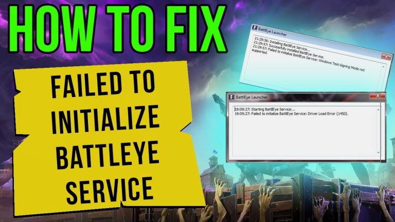 How to fix failed to initialise Battleye Service: Generic Error