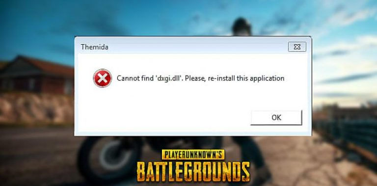 PUBG dxgi.dll Error Fix